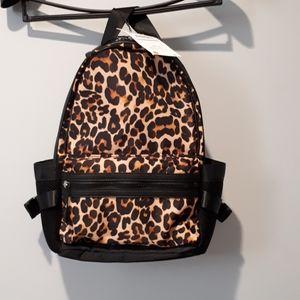 Zara leopard print Flap Backpack